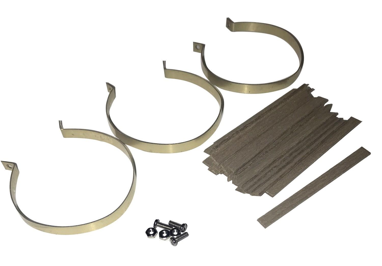 Lagging kit in mahogany for tank 90 x 42 mm