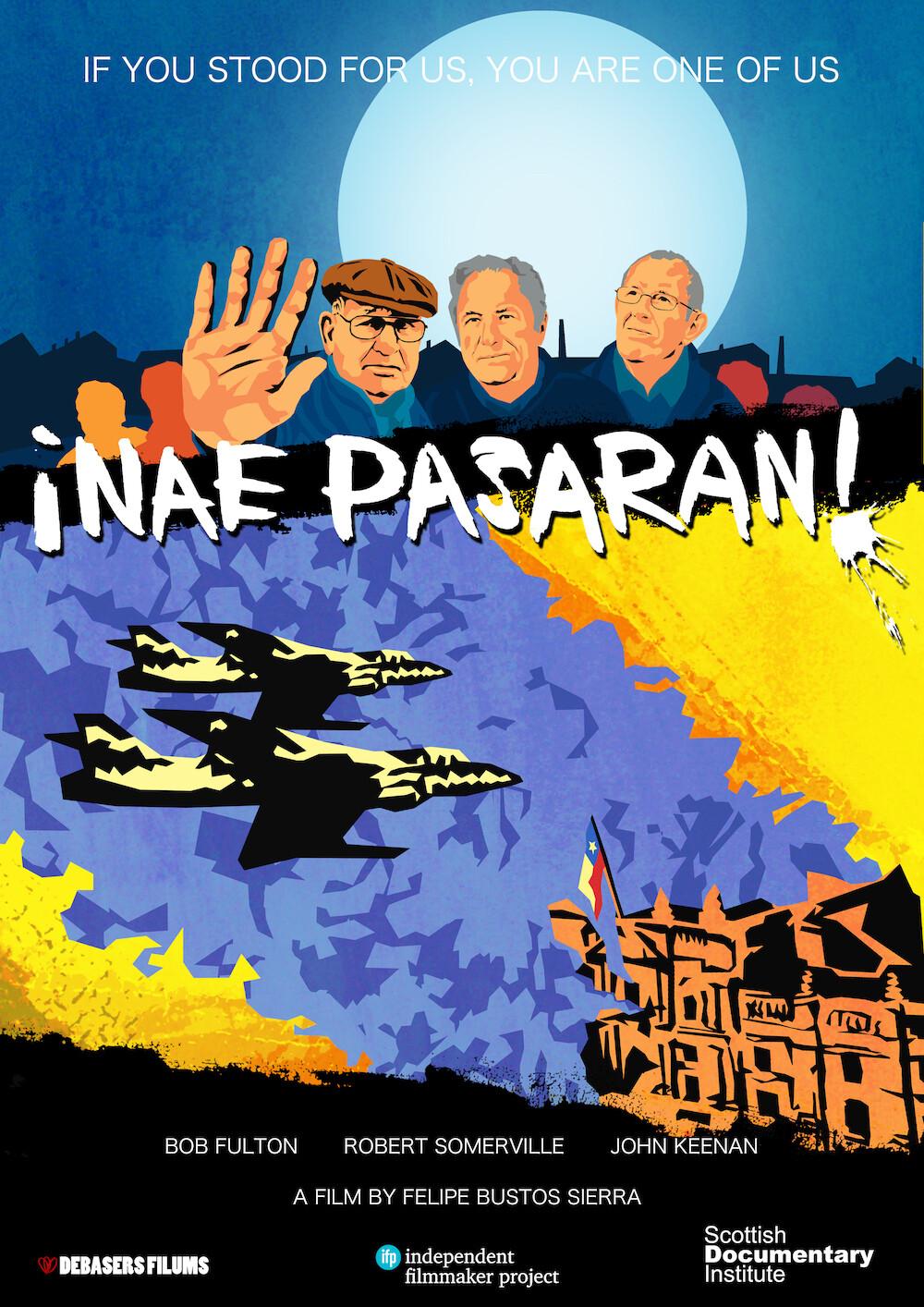 Original NAE PASARAN poster (crowdfunding campaign) - Moneda Palace