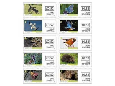 Мэн. Дикая природа острова. Серия из 10 самоклеящихся марок