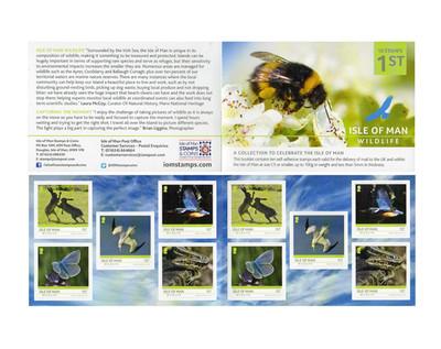 Мэн. Дикая природа острова. Буклет с 2 сериями по 5 самоклеящихся марок