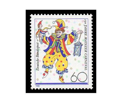 Германия. 150-летие Майнцского карнавала. Марка
