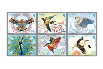 Джерси. EUROPA. Национальные птицы. Серия из 6 марок