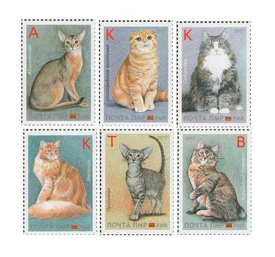 ПМР. Кошки. Серия из 6 марок