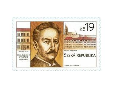 Чехия. Выдающиеся личности. Врач, профессор медицины Рудольф Томаш Едличка (1869-1926). Марка