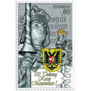 Австрия. 500 лет со дня смерти императора Максимилиана I (1459-1519). Марка