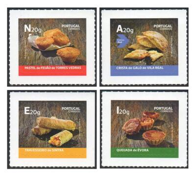 Португалия. Традиционные десерты (выпуск 2018 года). Серия из 4 самоклеящихся марок