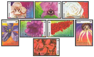 Куба. Флора. Национальные цветы Америки. Серия из 8 марок