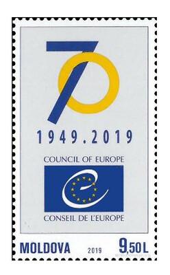 Молдавия. 70 лет Совету Европы. Марка
