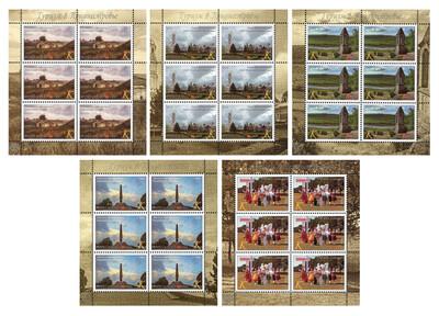 ПМР. Туризм в Приднестровье. Серия из 5 листов по 6 марок