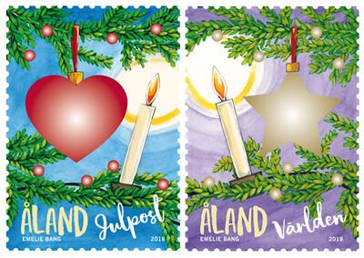 Аландские острова. Рождество. Серия из 2 марок