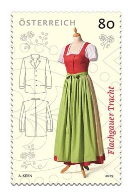 Австрия. Традиционная одежда. Дирндль из региона Зальцбург Флакгау. Марка