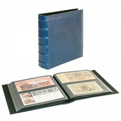 LINDNER. Универсальный альбом FIRMO 812ХL для размещения 224 конвертов размером 245мм х 132мм, синего цвета