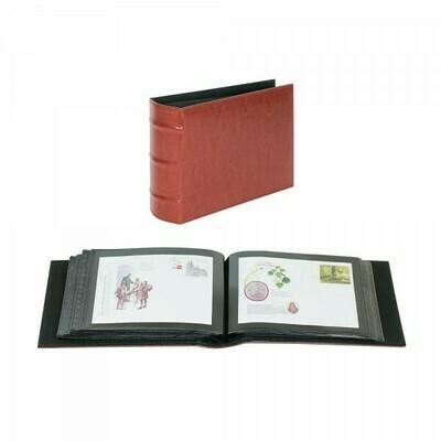 LINDNER. Универсальный альбом FIRMO 813 для размещения 100 конвертов размером 190мм х 130мм., красного цвета