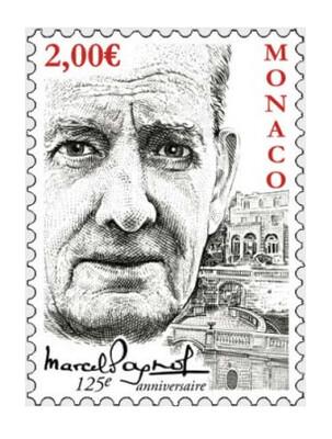 Монако. 125 лет со дня рождения Марселя Паньоля (1895-1974), французскому драматургу и кинорежиссёру. Марка