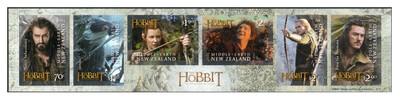 Новая Зеландия. Хоббит. Пустошь Смауга. Буклет из 6 самоклящихся марок
