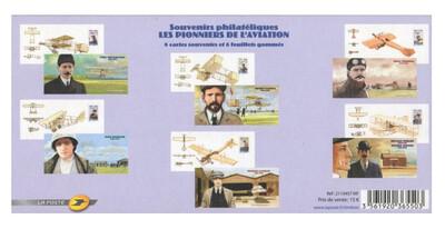 Франция. Пионеры авиации. Серия из 6 малотиражных почтовых блоков в сувенирных обложках