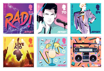 Джерси. Поп-культура 80-х. Серия из 6 марок