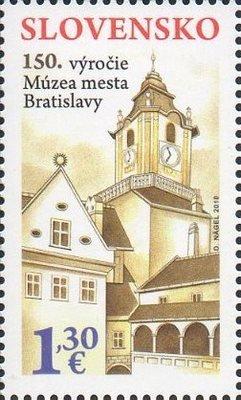 Словакия. 150-летие создания городского музея Братиславы. Марка