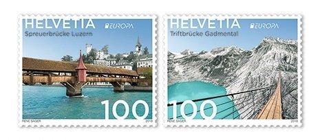 Швейцария. EUROPA. Мосты. Серия из 2 марок