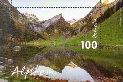 Швейцария. Альпштайн (Аппенцелльские Альпы). Почтовый блок