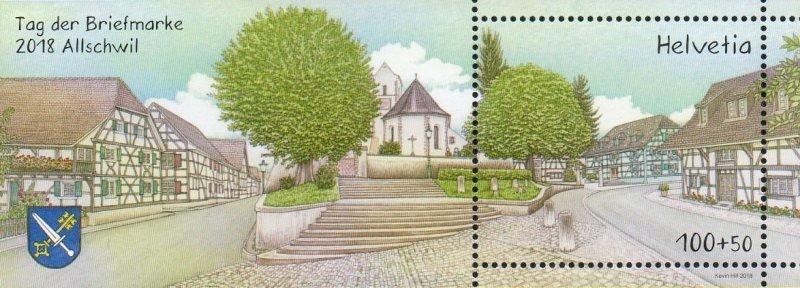 Швейцария. Альшвиль. День почтовой марки 2018. Почтовый блок