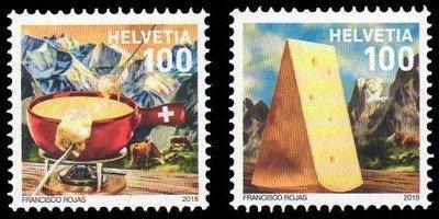 Швейцария. Фондю. Серия из 2 марок