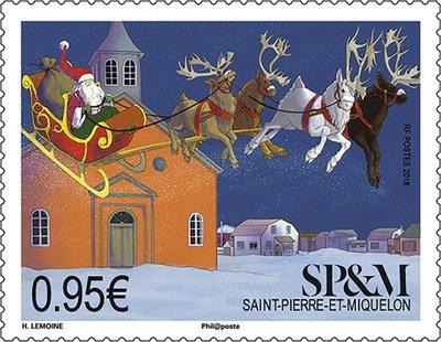 Сен-Пьер и Микелон. Рождество. Марка