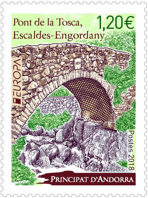 Андорра (Французская). EUROPA. Мосты. Марка