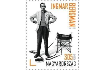 Венгрия. 100 лет со дня рождения Ингмара Бергмана (1918-2007), режиссёра театра и кино. Марка