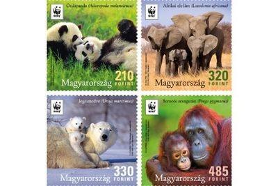 Венгрия. WWF. Особо охраняемые животные. Серия из 4 марок