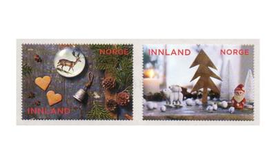 Норвегия. Рождество. Серия из 2 самоклеящихся марок