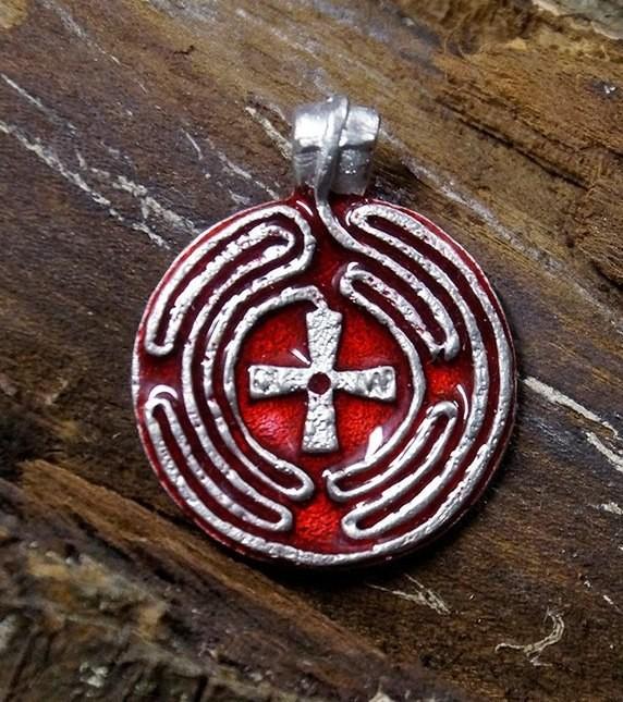 Медальон «Лабиринт» холодная эмаль