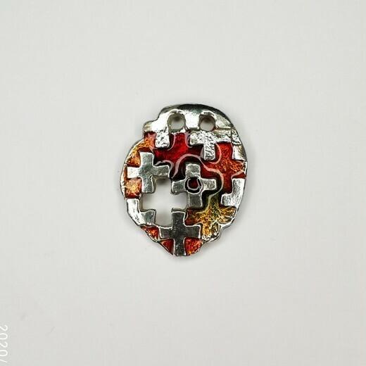 Медальон «Душе моя», эмаль