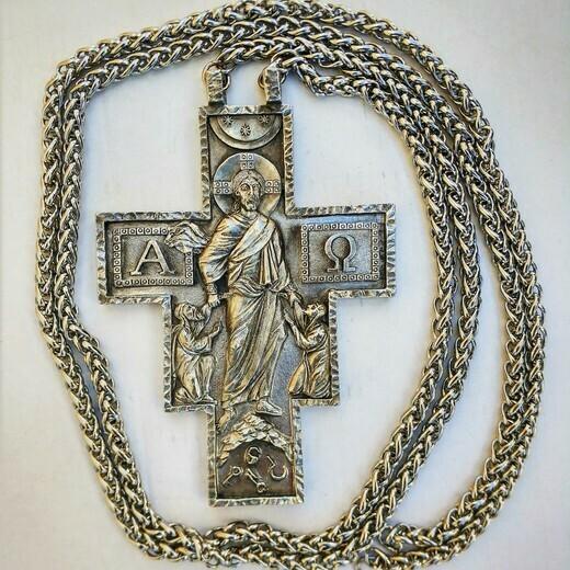 """Крест священника """"Я есмь Воскресение и Жизнь"""""""