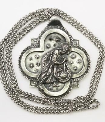 """Крест священника """"Се, творю все новое"""",серебрение"""