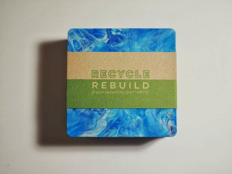 Set of 4 Recycled Square Coasters