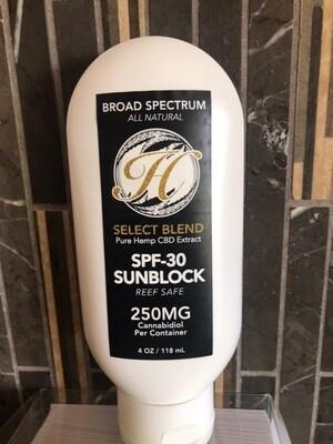Broad Spectrum SPF-30 Sunblock 25mg CBD