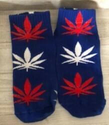 Red White & Blue Hemp Socks