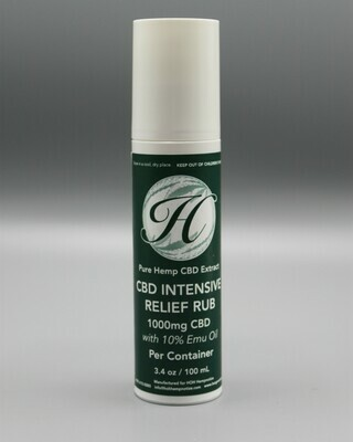 Intense Pain Relief Rub with Emu Oil 1000mg