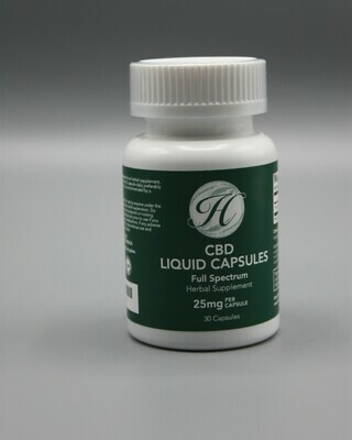 Liquid Full Spectrum Capsules 25mg each