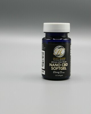 Soft-Gel Nano Capsules -Broad Spectrum 25mg  each (Customized Formulations) ***Special***