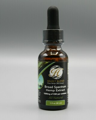 Broad Spectrum: Tincture Natural Flavored 1500mg