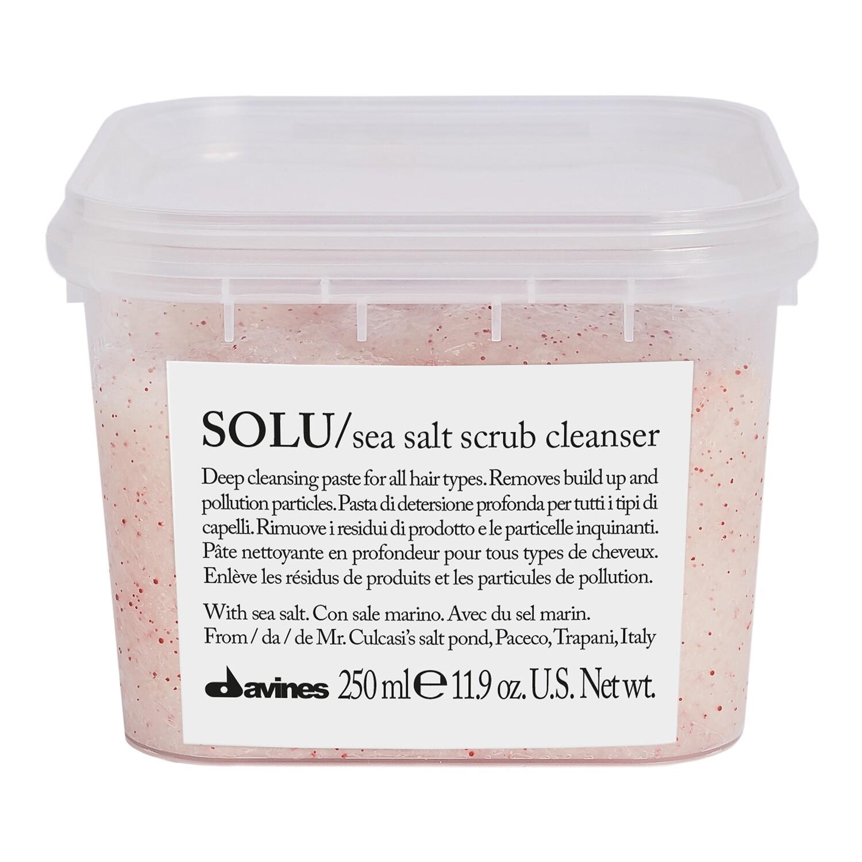 Davines SOLU Sea Salt Scrub Cleanser 8.45 fl. oz.