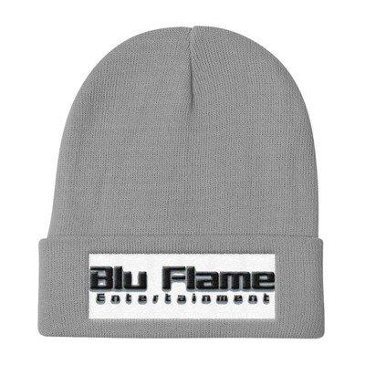 Blu Flame Knit Beanie
