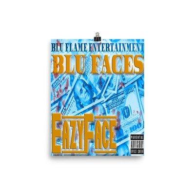 Blu Faces album Photo paper poster
