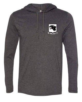 Lightweight Dark Grey pullover hoodie