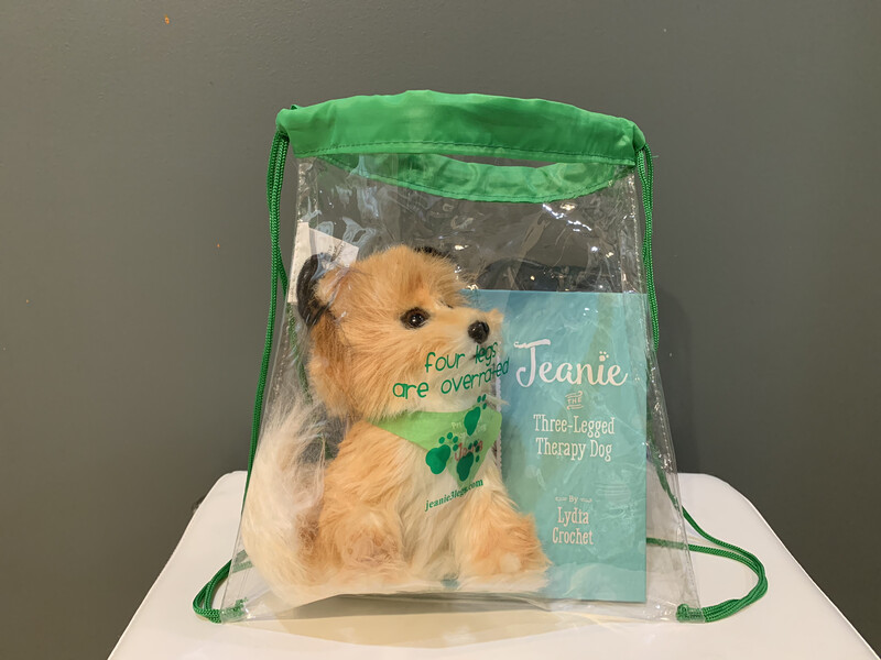 COMBO PACK: Therapy Dog Book & Toy w/ Drawstring Backpack *Best Deal!