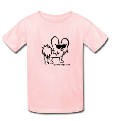 Pink LARGE Cartoon Kids T-Shirt