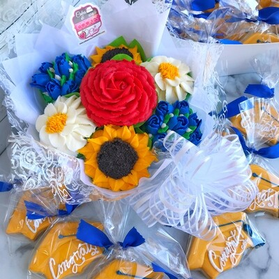 Cupcake Bouquet & Cookies - Party Package