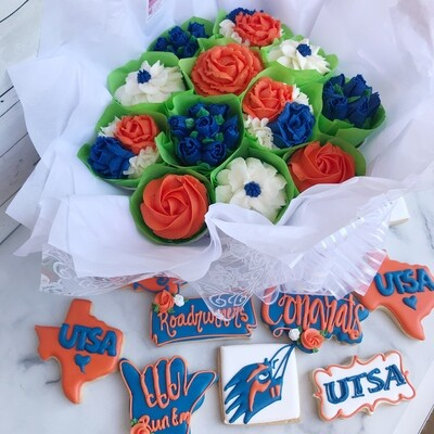 Character / Logo Cupcake Bouquet & Cookies - Party Package